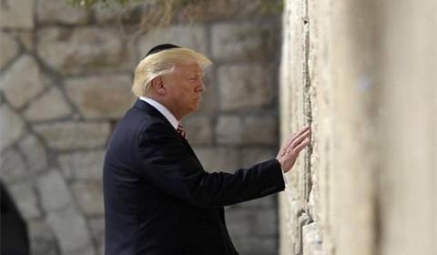 美国总统特朗普携家人访问以色列 成为首位访问哭墙的美国总统